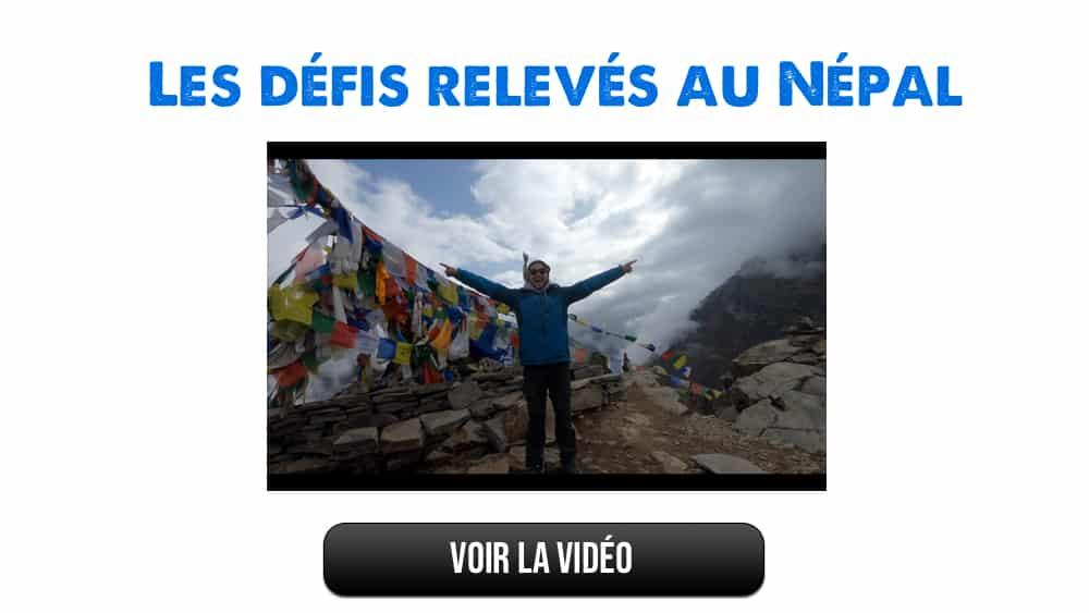défis au népal - grimper sur l'Everest